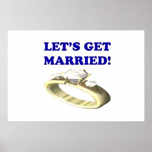 Deja para conseguir casado póster