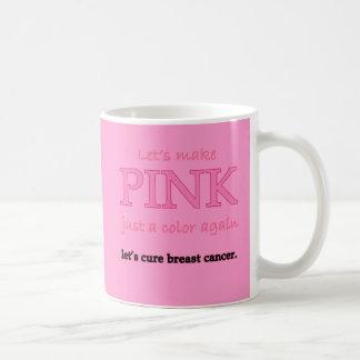 Deja para hacer rosa apenas un color otra vez taza clásica