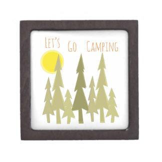Deja para ir a acampar cajas de recuerdo de calidad