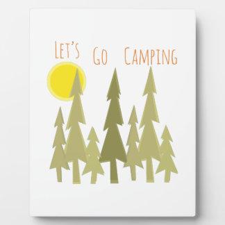 Deja para ir a acampar placas de plastico
