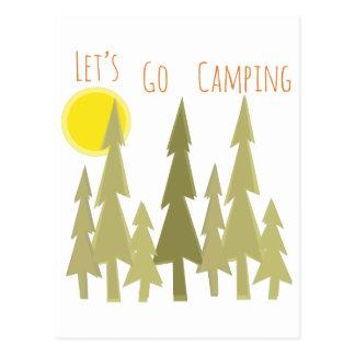 Deja para ir a acampar postal