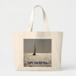 Deja para ir a navegar bolsa tela grande
