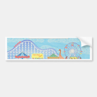 Deja para ir al carnaval, montaña rusa, Ferris Wh Pegatina Para Auto