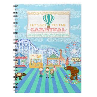 Deja para ir al carnaval, montaña rusa, Ferris Wh Notebook