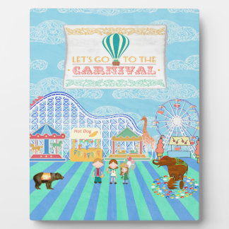 Deja para ir al carnaval, montaña rusa, Ferris Wh Placas Con Foto