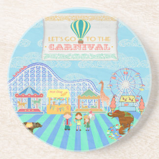 Deja para ir al carnaval, montaña rusa, Ferris Wh Posavasos Diseño