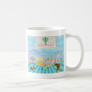 Deja para ir al carnaval, montaña rusa, Ferris Wh Taza De Café