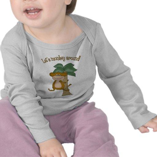 Deja para monkey alrededor camiseta