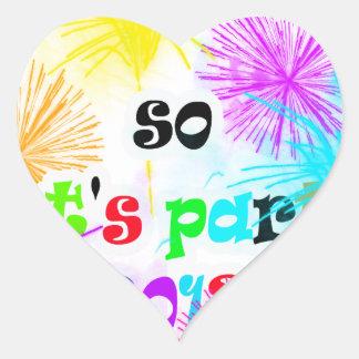 deja party.png pegatina en forma de corazón