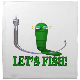 Deja pescados servilleta imprimida
