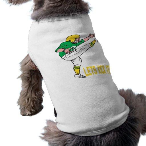Deja retroceso él ropa de perros