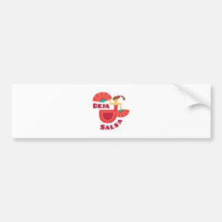 Deja Salsa Car Bumper Sticker