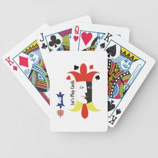 Deja tarjetas del juego baraja de cartas
