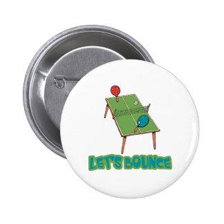 Deja tenis de mesa del ping-pong de la despedida pin redondo 5 cm