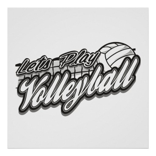 Deja voleibol del juego póster