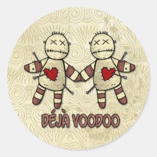 deja voodoo classic round sticker