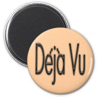 De'ja' Vu black 2 Inch Round Magnet