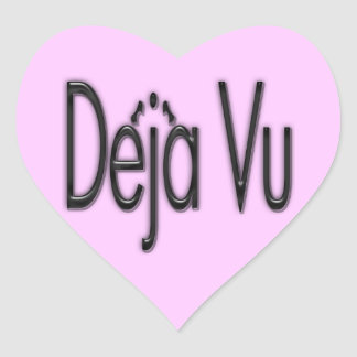 De'ja' Vu black Heart Sticker