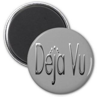 De'ja' Vu chrome 2 Inch Round Magnet