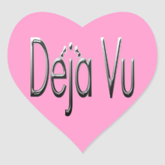 De'ja' Vu chrome Heart Sticker