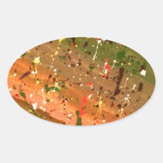Deja Vu Oval Sticker