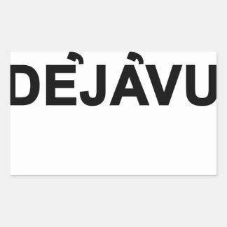 Deja Vu Women's T-Shirts.png Rectangular Sticker