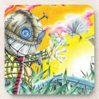 Deja Vudoo - Cute Colorful Pin Cushion Doll Art Drink Coaster