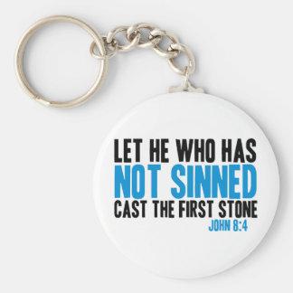 Dejado él que no tiene molde Sinned la primera pie Llaveros