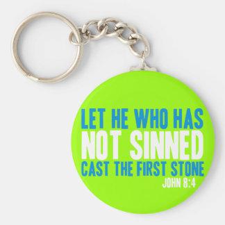 Dejado él que no tiene molde Sinned la primera pie Llaveros Personalizados