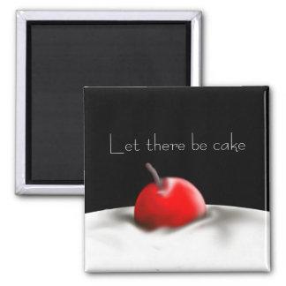 Dejado haya imán del personalizado de la torta