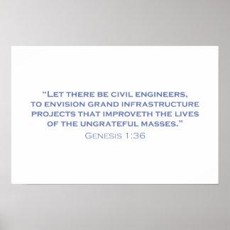 Dejado haya ingenieros civiles impresiones