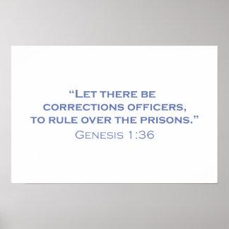 Dejado haya oficiales de correcciones póster