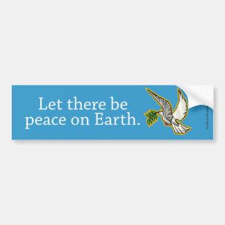 Dejado haya paz en la tierra pegatina para auto