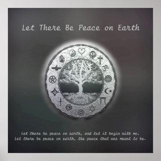 Dejado haya paz en la tierra póster