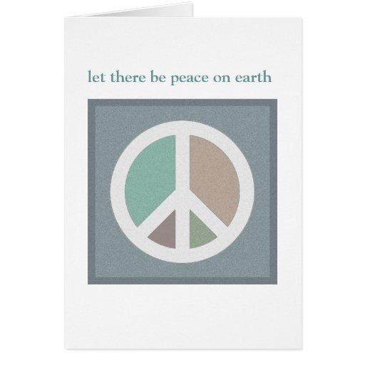 Dejado haya paz en TARJETA de la tierra…