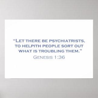 Dejado haya psiquiatras póster