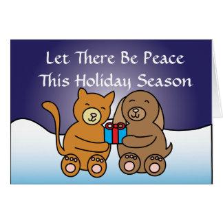 Dejado haya tarjeta de la paz