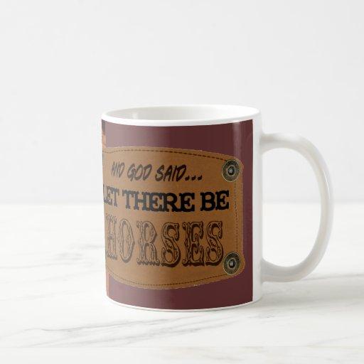 Dejado haya taza de café de los caballos