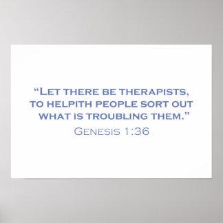 Dejado haya terapeutas póster