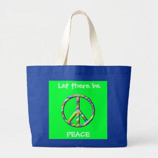 Dejado haya tote de la paz bolsas lienzo