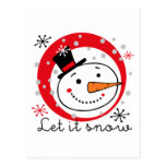Dejado lo muñeco de nieve tarjetas postales