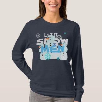Dejado lo suéter de los muñecos de nieve