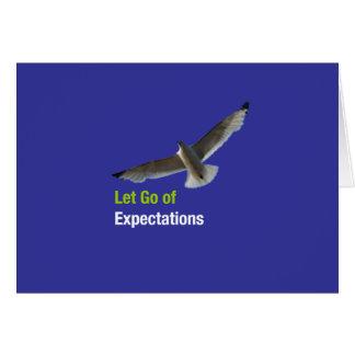 Dejado vaya de expectativas tarjeta de felicitación