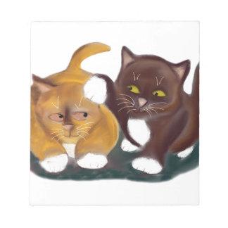 Dejado vaya de mi gatito de los gruñidos del oído blocs de notas