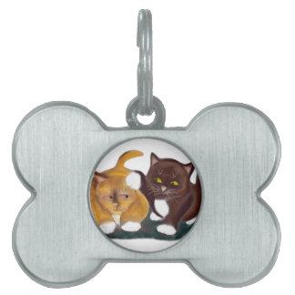 Dejado vaya de mi gatito de los gruñidos del oído placa de nombre de mascota