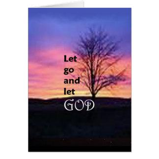 Dejado vaya dejar a dios tarjeta de felicitación