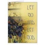 Dejado vaya dejar a dios - tarjeta azul de los iri