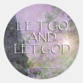 Dejado vaya dejar al pegatina de las lilas de dios