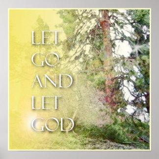 Dejado vaya dejar el árbol de dios y camina poster