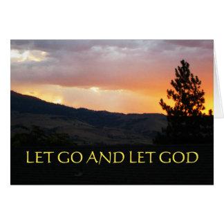 Dejado vaya dejar el cielo de julio de dios tarjeta de felicitación